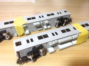 Greenmax JR205系 後期形 加工4