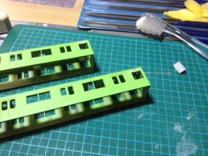 Greenmax JR103系 関西形高運転台車 加工