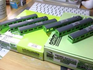 Greenmax JR103系 関西形高運転台車 加工2