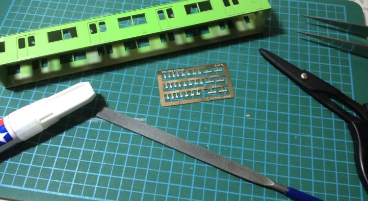 Greenmax JR103系 関西形高運転台車 加工3